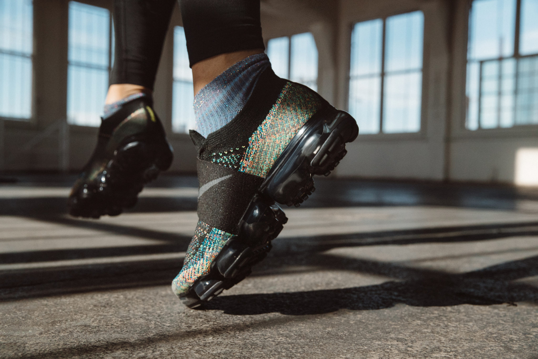 newest 34436 4a5ab Check out the Nike Air VaporMax MOC Flyknit worn by Megan Batoon. Now  available at finishline.com.